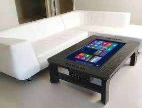 wohnzimmertisch design table top tablets coffee table touch screen