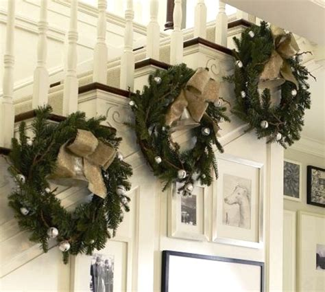 ideas for decorating christmas wreaths 19 stunning christmas staircase decorations godfather style