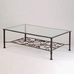 Table Basse Fer Forgé : table basse en fer forge carree ou rectangulaire ~ Teatrodelosmanantiales.com Idées de Décoration