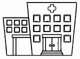 Hospital Coloring Pages Building Printable Categories Tower Coloringonly sketch template