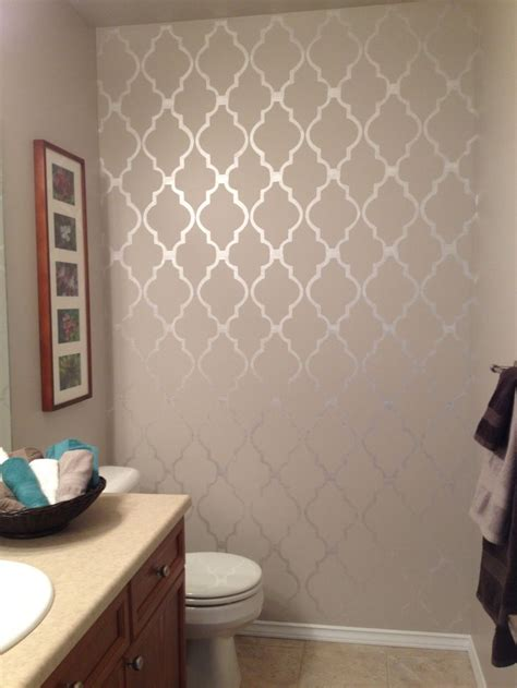 bathroom stencil diy bathroom decor kid bathroom decor