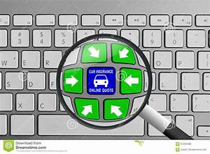 Keyboard With Green And Blue Car Insurance Quote Buttons And Magnifying Glass Stock Image ...