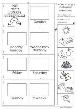 hungry caterpillar mini book days   week