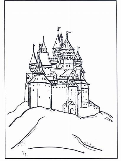 Disney Castello Colorare Castelo Castillo Coloring Burg