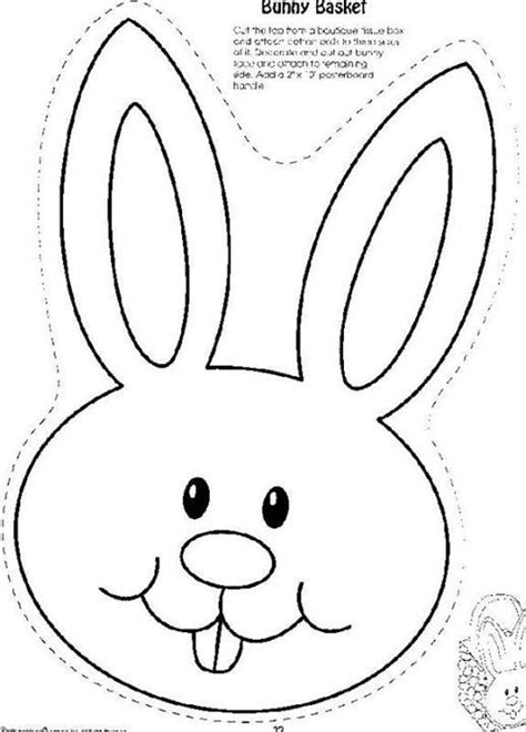 easter bunny cut out template 89047 easter bunny outline printable 5 best images of cut out