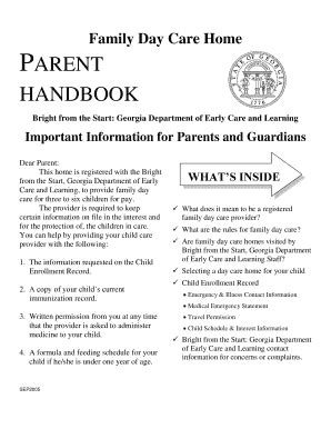 example of staff handbook for daycare 942 | 17626388