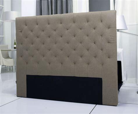 housse fauteuil bureau tete de lit capitonnee king 140 160cm facon taupe