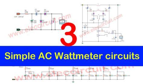 Simple Wattmeter Circuits Eleccircuit