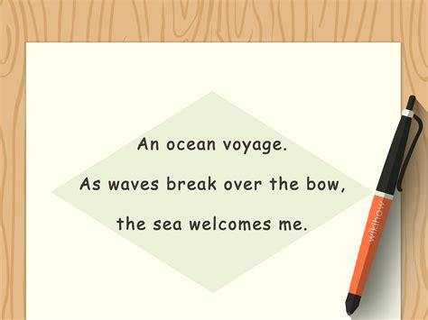 schreibe ein haiku gedicht wikihow