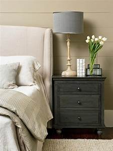 Tips for a clutter free bedroom nightstand hgtv for Bedroom nightstand ideas