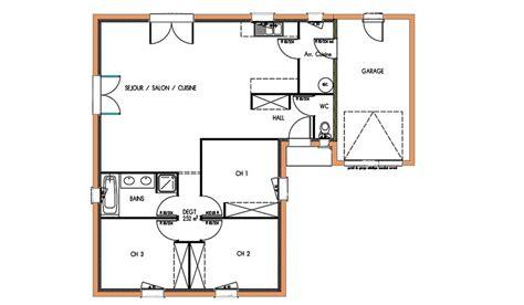 plan maison plain pied 2 chambres gratuit plan maison 90m2 gratuit