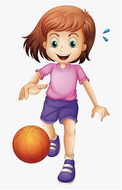 Basketball Playing Cartoon Clipart Clip Sports Play
