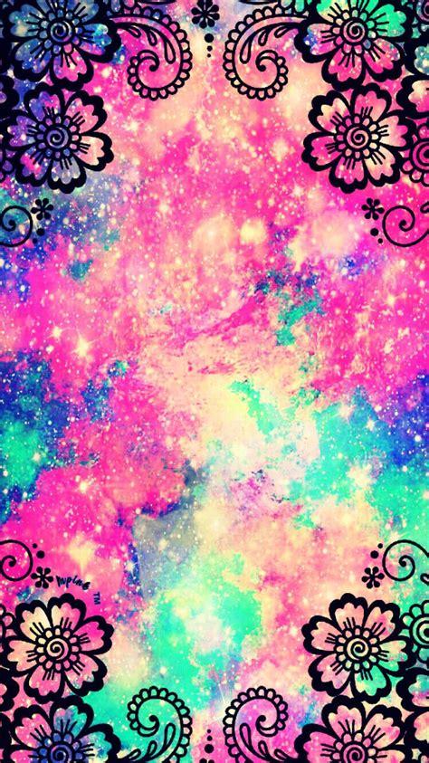 flower garden galaxy wallpaper androidwallpaper