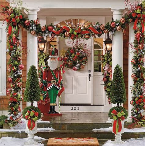 wonderful christmas front porch decorations