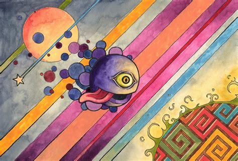 Psychedelic Humor Monster Creature Cartoon Dark