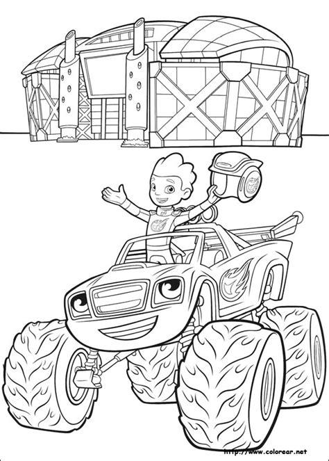dibujos  colorear de blaze  los monster machines