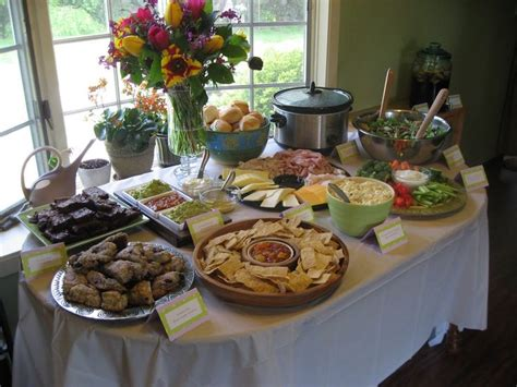 baby shower food table decoration graduation celebration