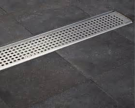 new trends in bathroom design aco tiled flooring shower drainage channel quadrato