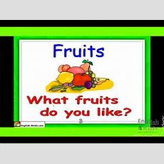 Esl Beginners English Lesson  Names Of Fruits Youtube
