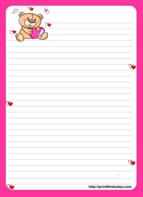 printable note paper  designs