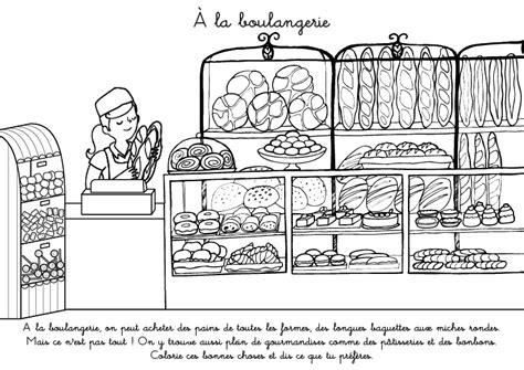 Coloriage Boulangerie