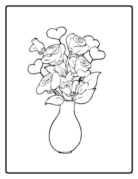 coloriage fleurs dans une vase dessin gratuit  imprimer