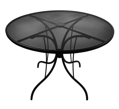 metal mesh top patio table 42 quot round galvanized steel mesh outdoor caf table top