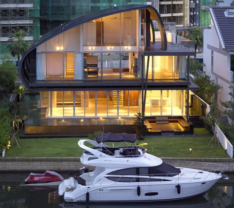 nauticalinspired house by the marina in singapore