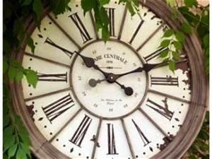 Grosse Pendule Murale : horloge gare zinc d co murale boutique d co maison cosy ~ Teatrodelosmanantiales.com Idées de Décoration