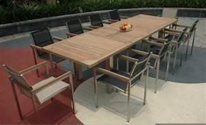Table En Teck Jardin : table de jardin teck et inox rallonges thales 300 ~ Melissatoandfro.com Idées de Décoration