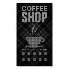 coffee shop loyalty card templates images