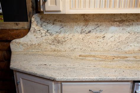 how the granite backsplash look with matching granite
