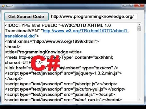 c tutorial 91 how to get source code from a website with c youtube