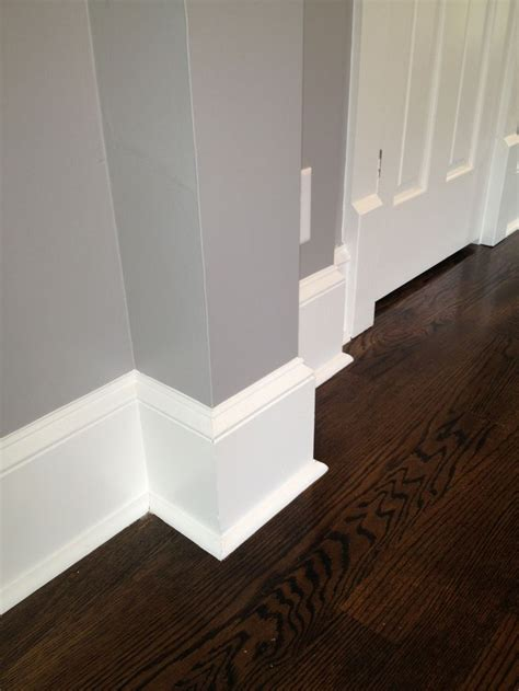 historic trim details  baseboards  actual wood