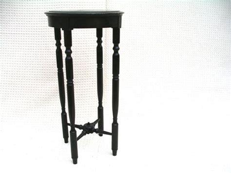 small  wood table dark wood plant stand eastlake