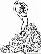 Coloring Pages Printable Flamenco Dance Dancers Spain Visit sketch template