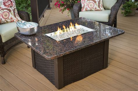 outdoor great room grandstone pit brown wicker