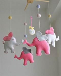 Mobile Baby Selber Basteln : mobile kinderbett filztiere elefanten kinder pinterest ~ Michelbontemps.com Haus und Dekorationen