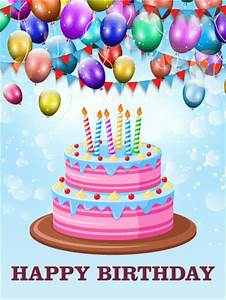 Let's Celebrate with Delicious Cake - Happy Birthday Card ...