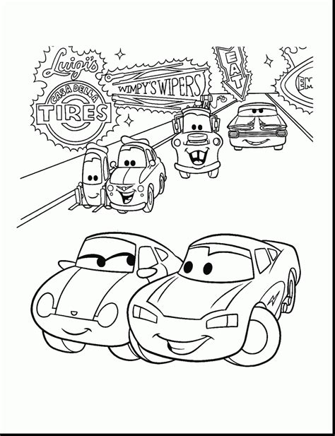 Cars 2 Coloring Pages Colouring Lightning Mcqueen Coloring