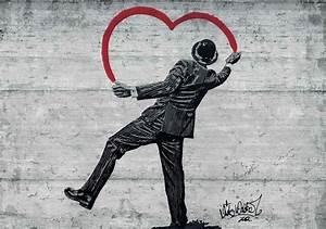Banksy Graffiti Concrete Wall Wall Paper Mural   Buy at ...