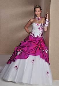 robe de mariee fushia et blanche a acheter pinterest With robe de mariée rose et blanche