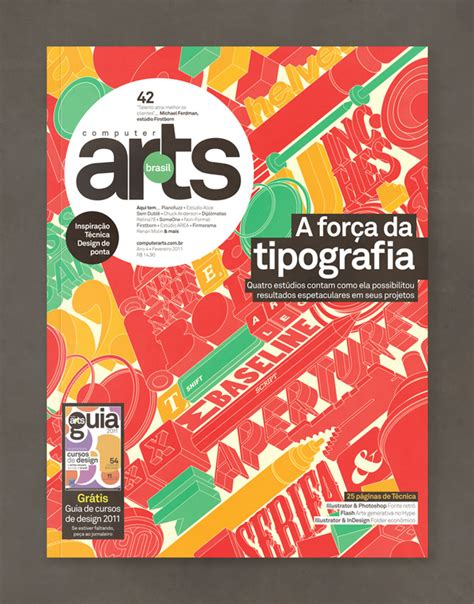 typography issue for computer arts brasil designbyizo