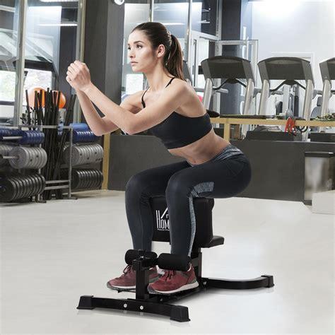 homcom squat bench trainer sit  machine ab curl workout home gym ebay
