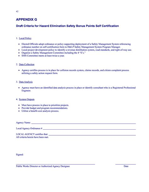 20020 records release form appendix g draft criteria for hazard elimination safety