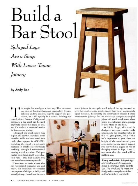 working projcet  bar stool plans  plans
