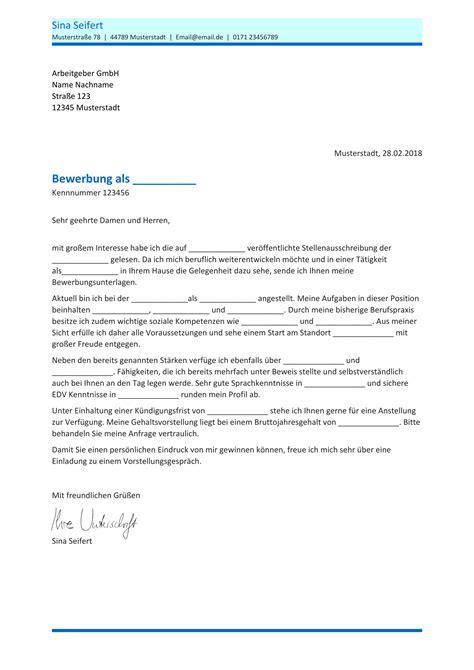 Anschreiben Bewerbung by Bewerbungsvorlagen 82 Gratis Word Vorlagen