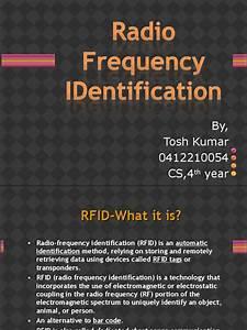 RFID ppt | Radio Frequency Identification