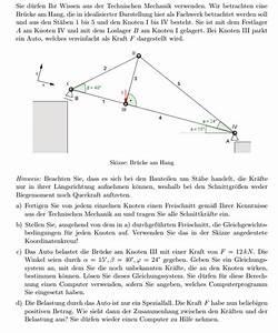 Fachwerk Berechnen : mechanik technische mechanik br cke am hang als fachwerk gleichungssystem mit ~ Themetempest.com Abrechnung