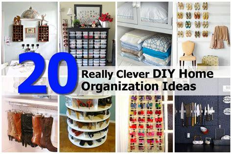 organization ideas 20 really clever diy home organization ideas Diy